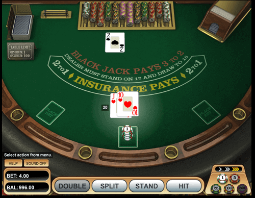 mesa de blackjack online