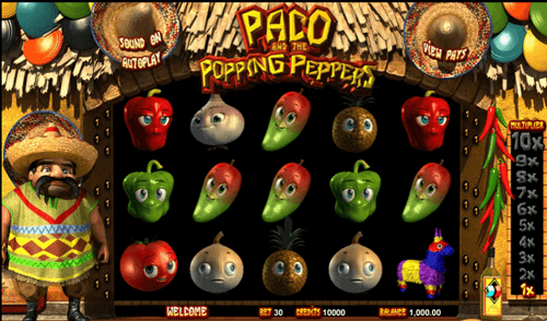 juego tragaperras gratis paco and the popping peppers