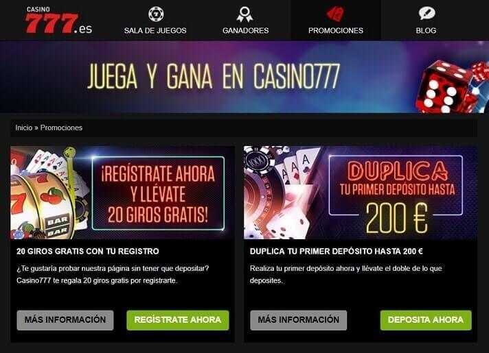 casino 777 juegos y promociones