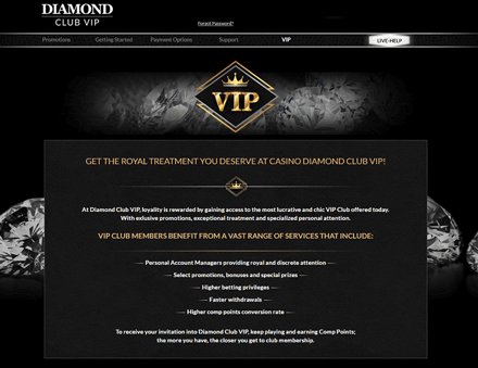diamond club vip vip