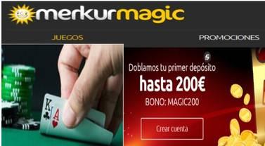 Merkurmagic duplica hasta por 200 euros el primer depósito