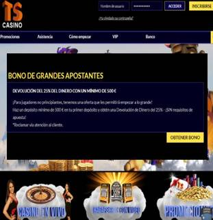 Casino Times Square entrega 25% por primer depósito para grandes apostadores