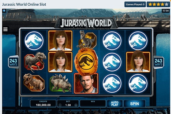 tragaperras Jurassic World