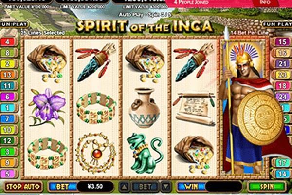 tragaperras Spirit of the Inca