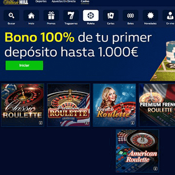 Juegos de ruleta en william hill para casinos online chile