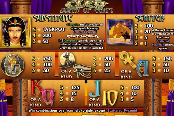 slot Cleo Queen of Egypt