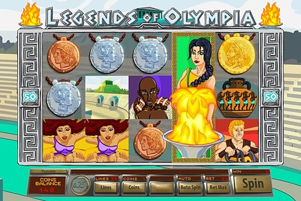 tragaperras Legends of Olympia