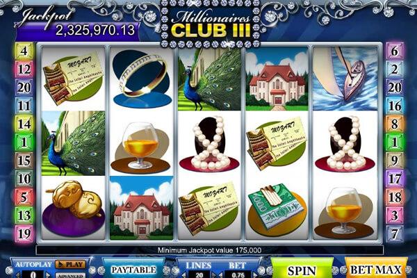 tragaperras Millionaire's Club III