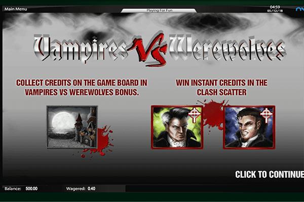 tragaperras Vampires vs Werewolves