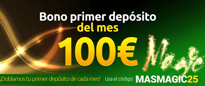 Recibe hasta 100€ el primer día del mes