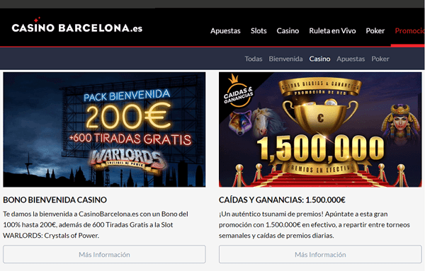 casino barcelona promociones