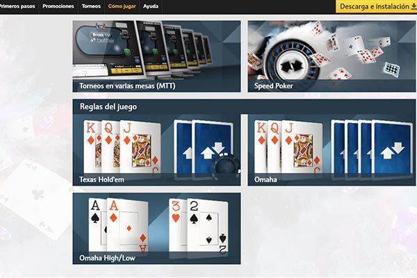 Betfair poker juegos