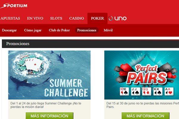 Sportium poker promociones